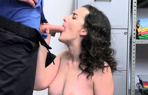 Curly shoplifter stunner gets her..