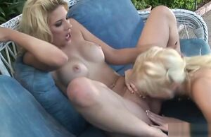 Naughty Angela Stone teenager outdoor..