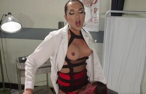 Magnificent she-male medic ass-fuck..