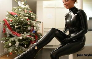 Julie Skyhigh in Spandex Catsuit with..