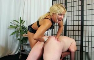 Red-hot  female dom and jizz shot