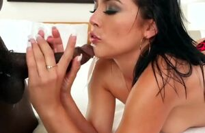 Kristina Rose blows a huge black spear