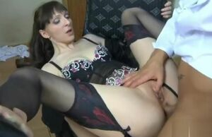 Pummels Mature Russian dame in the arse