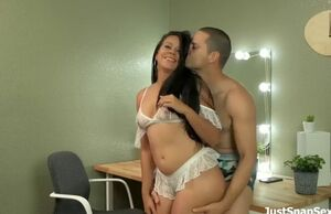 Latina damsel has sultry  romp