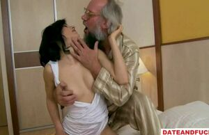 Aged fart seduced by a insane maiden..