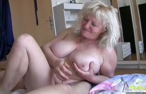 Oldnanny matures toying with hardened..