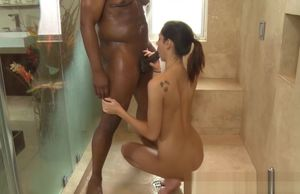 Massagist  ginormous ebony man-meat