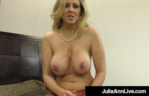 Chesty Cougar Julia Ann Strokes A Firm..